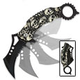 Skulltastic Karambit Style Assisted Opening Pocket Knife