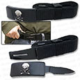 Belt Knife - Self Defense Hidden Blade Belt - Skull