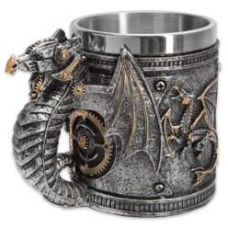 Steampunk Mechanized Winged Dragon Mug - 12-oz Capacity