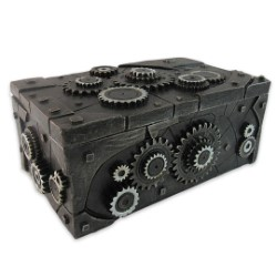 """Clockwork"" Steampunk-Style Trinket / Jewelry Box"