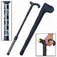 Stun Gun Armed Walking Cane w/ Flashlight