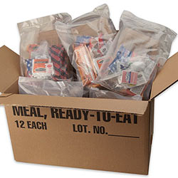 Survival Food - 12 Pack of Meals Ready to Eat - MRE