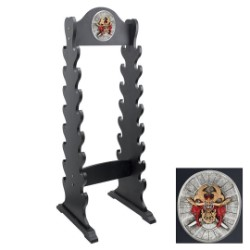 Sword Stand With Medallion – Holds 16 Swords