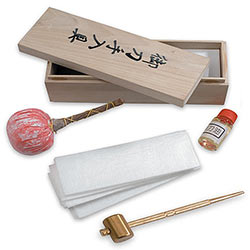 Sword Cleaning Kit w/ Wooden Box