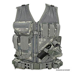 Tactical Team Leader Vest  w/ Duty Belt & Holsters - ACU
