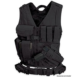 Tactical Team Leader Vest  w/ Duty Belt & Holsters - Black