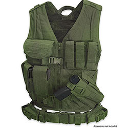 Tactical Team Leader Vest  w/ Duty Belt & Holsters - Olive Drab