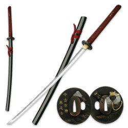 Ten Ryu Hand Forged Sword With Gold Tsuba