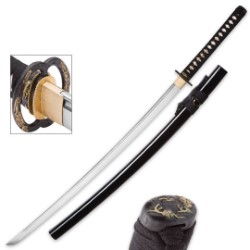 Dragon King Katana Sword | 1060 High Carbon Steel | Brass Tsuba