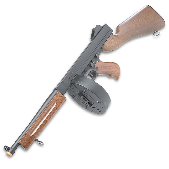 Thompson Machine Gun Drum http://www.trueswords.com/thompson-machine-m1a1-airsoft-replica-drum-p-6254.html
