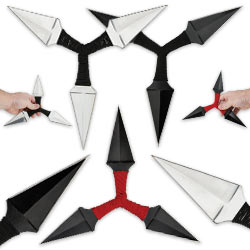 Three Point Kunai Triple Throwing Star Set – 3 Pc. Set