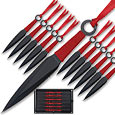 Kunai Explosion - 24pc Throwing Knife Set w/ Sheath