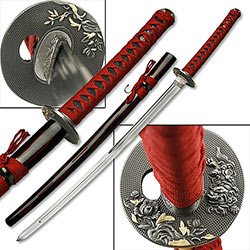 Tiger Sand Garden Samurai Sword w/ Double Edged Blade