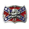 Skull / Confederate Flag Belt Buckle