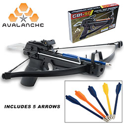 Avalanche Mini Crossbow Pistol Grip 50 lb. w/ Adjustable Sights­–150 FPS