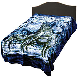 Blanket - Wolf Tribute Deep Blue Queen Size