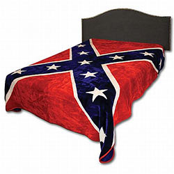Blanket - Rebel Flag Queen Size