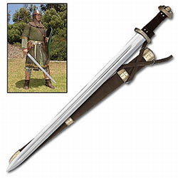 Classic Viking Sword w/ Stunning Leather