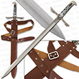 Custom Long Sword & Deluxe Sheath w/ Belt
