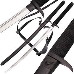 Death Talon Katana - Ryu Ninja Full Tang Sword w/ Back Strap