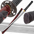 Musashi - 1060 Carbon Steel - Bamboo Warrior Sword - Red Saya