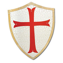 Knights Templar Shield W/ Cross