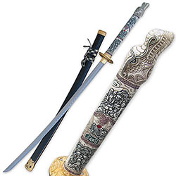 Dragon Katana w/ Multi-Color Handle 1st Generation