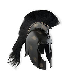 Antique Black Finish Sparta Helmet