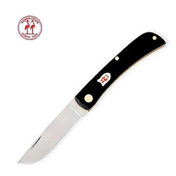 Kissing Crane - Gentleman Folder w/ Shield - Black