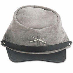 Civil War CSA Soldiers Gray Wool Kepi Hat Reenactor Costume