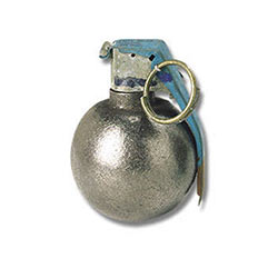 Hand Grenade Paperweight Apple Cut