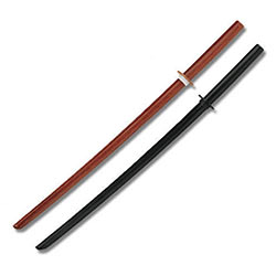Black & Natural Bokken Practice Training Sword Set