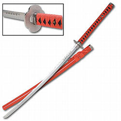 Traditional Red & Black Samurai Sword