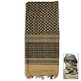 Shemagh Tactical Scarf - Black & Khaki