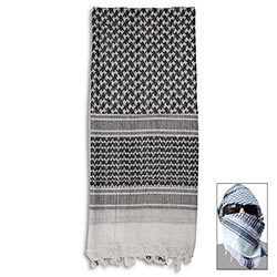 Special Forces Shemagh Tactical Scarf - White & Black