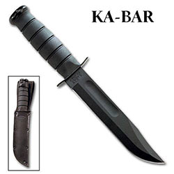 KABAR Fighting Knife w/ Black Leather Sheath