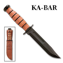 KABAR Army Straight w/ Leather Sheath