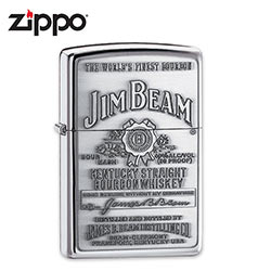 Zippo Jim Beam Branded Lighter - High Polish