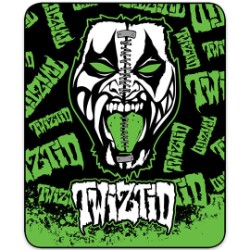Twiztid Split Face Faux Fur Blanket