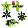 Undead Apocalypse Multi Point Throwing Stars – 12 Pack/4 Patterns