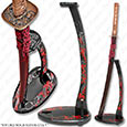 Sokojikara - Upright Sword Stand, Hand Painted Dragons