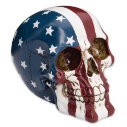 Ol' Glory Bones US Flag Resin Skull