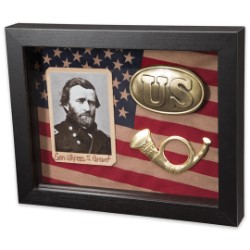 Civil War Shadow Box - Union / Ulysses S. Grant