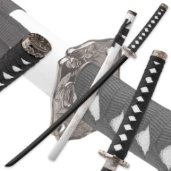 White Flying Dragon Katana With Engraved Scabbard