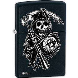 Zippo Cloaked Grim Reaper w/ Sons Of Anarchy Crest