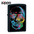 Zippo Skull w/ Colorful Abstract Paint 28042