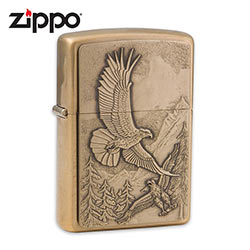 Zippo Eagles Flying High Bronze Lighter
