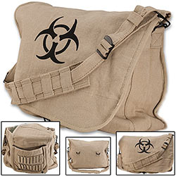 Post-apocalyptic Zombie Bag w/ Bio-hazard