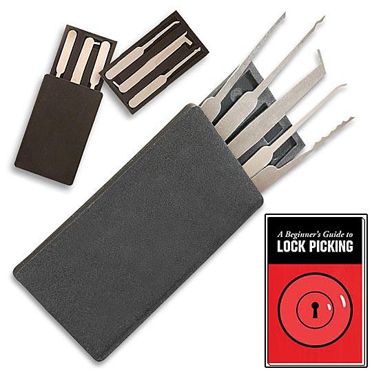Credit Card Lock Pick Set: Credit Card Wallet Sized Lock Picking Set W/ Case