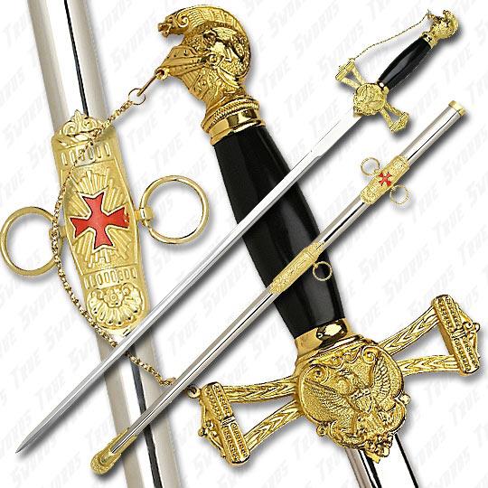 Knights Templar Sword With Plaque Knight Templar Sword of The